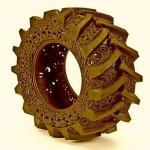 A arte das filigranas na reciclagem de pneus usados