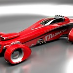 Vermelho! Carros e motos 'conceito' de Mikhail Smolyanov