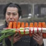 Legumes e verduras tocam música antes de ir para a panela