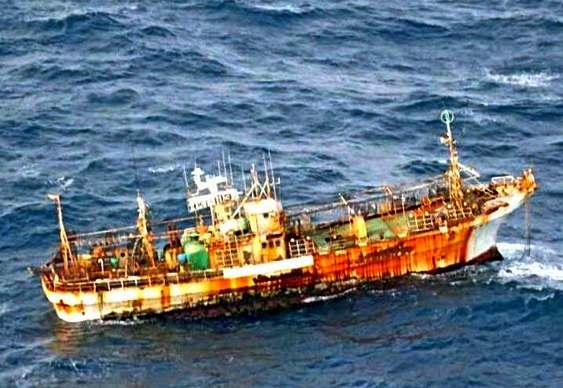 Navio fantasma perto do Canadá