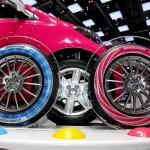 Bridgestone lança coleção de pneus com banda colorida