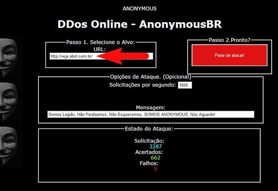 Anonymous atacam veja