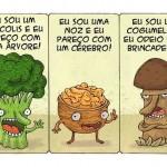 Charges & Cartuns: cogumelos venenosos e sadios