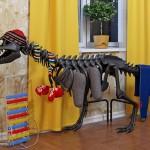 Aquecedor de ambiente infantil em forma de dinossauro