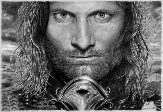 Retrato Aragorn Senhor dos Anéis