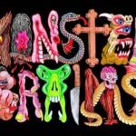 Desenhos de monstros e monstruosidades da TV e jornais