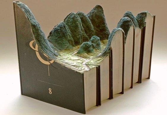 Livros usados - esculturas