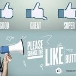 A campanha Bom, Ótimo e Super para novos botões no Facebook