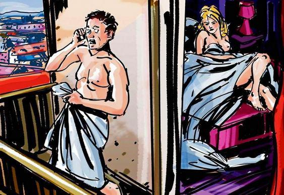 Homem foge de mulher tarada