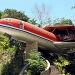Hotel num avião é pura aventura em praia do Pacífico