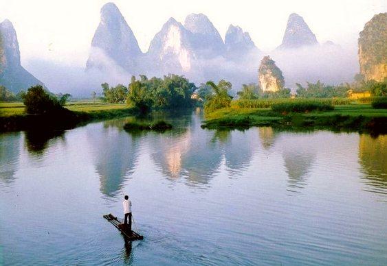 Montanhas de Guilin Yangshuo Longsheng