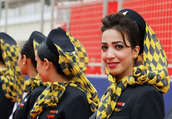 Umbrella Girls Formula 1