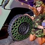 Pneus sem ar são eficientes em testes com Jeeps militares