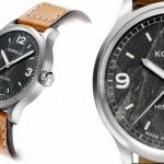 Relógio de pulso com mostrador de pedra do Monte Everest