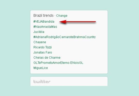 Trend Topics do Twitter Brasil
