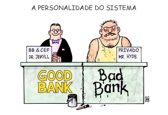 Juros bancos estatais e particulares