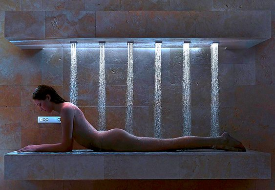 Chuveiro para banho deitado