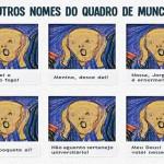 Charge engraçada sobre o quadro O Grito, de Edvard Munch