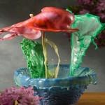 Flores exóticas líquidas em fotografias de alta velocidade