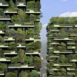 Prédio de apartamentos com árvores vira primeira floresta vertical