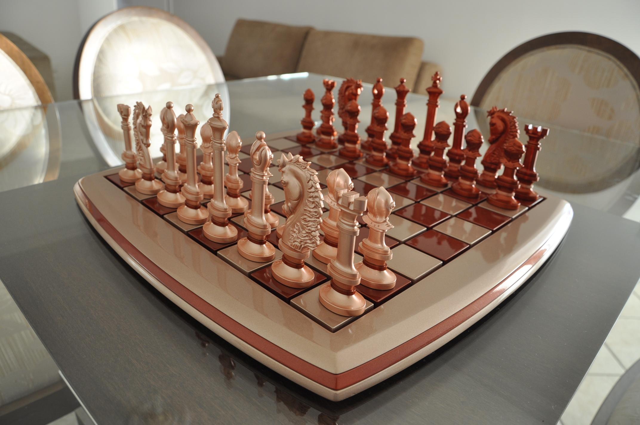 Jogo de xadrez com inovador design em peças e tabuleiro u2013 Matéria Incógnita -> Peças Grandes De Xadrez Para Decoração