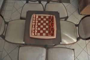 Tabuleiro e peças de jogo de xadrez - design e decoração