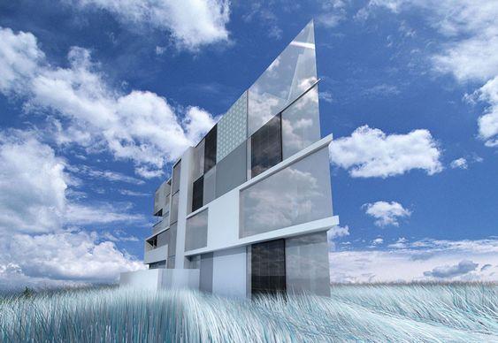 Edifício em terreno triangular