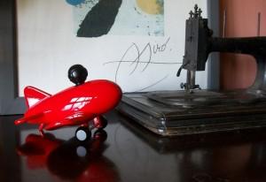 Aeronave vermelha