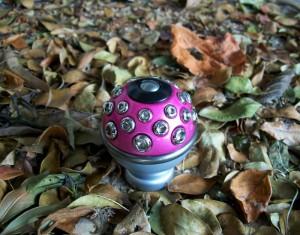 Manopla câmbio rosa choque