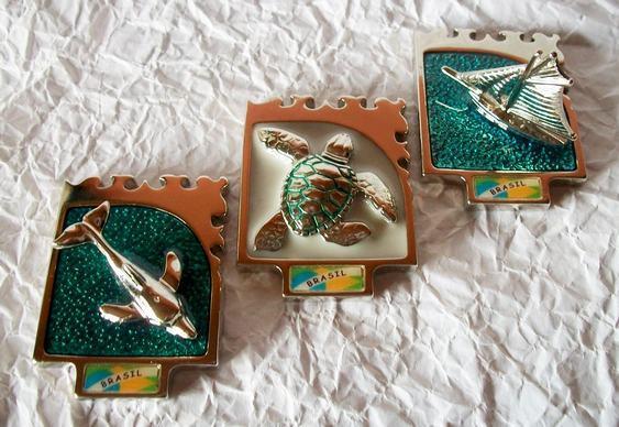 Decoração - golfinho e tartaruga verde