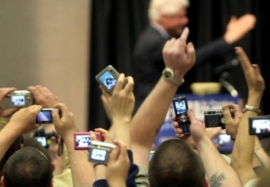 Fotos com telefone celular