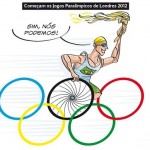 Charge em homenagem aos atletas das Paralimpíadas 2012