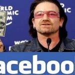 Bono, cantor do U2, quase bilionário por queda em ações do Facebook