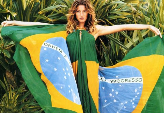 Gisele Bündchen - Brazil's Flag