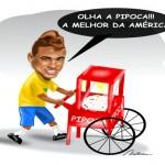 Armação: Brasil de Neymar, Galvão & Cia goleia seleção fake da China