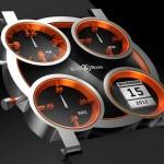 Relógio de pulso com 4 ponteiros inspirado em farol de Porsche
