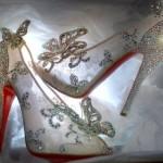 Sapatinhos de cristal da Cinderela: de verdade e com sola vermelha!