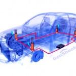 Amortecedor transforma em energia a vibração dos buracos na pista