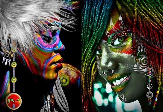Rosto de Mulher - Arte Digital