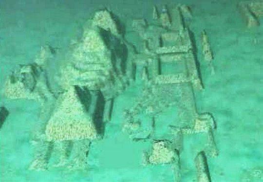 Cidade submersa no Caribe