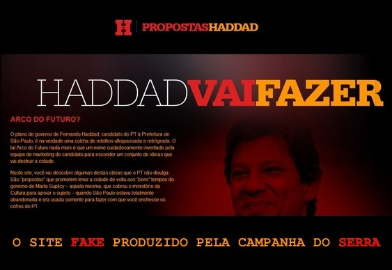 Site fake do Haddad
