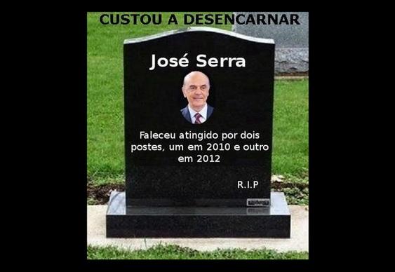 Sepultura política de José Serra