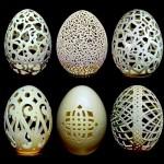 As esculturas e filigranas em cascas de ovos de Gary LeMaster