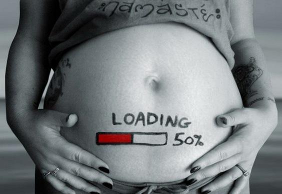 Humor - barriga de grávida