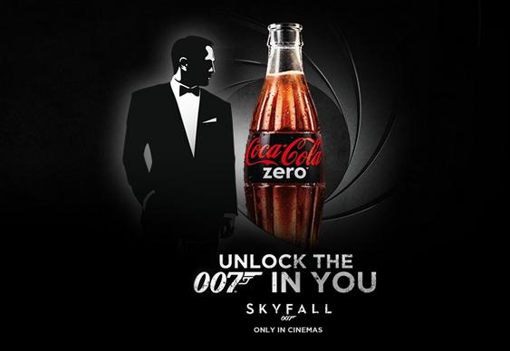 007 - propaganda de Coca-Cola Zero