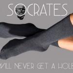 Criadas meias eternas à prova de furos com kevlar e fibra de carbono