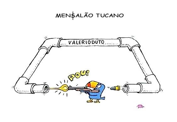 Charge sobre o Mensalão Tucano