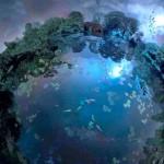 Planetas ideais em miniatura, como paraísos flutuando no espaço