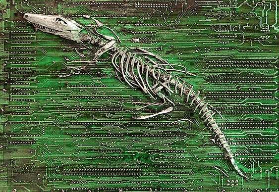 Arte com circuito de computador