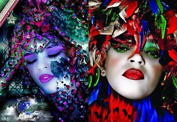 Rostos de mulher - Photoshop